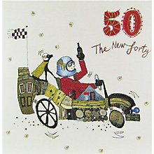 Buy Woodmansterne Motoring Along 50th Birthday Card Online at johnlewis.com