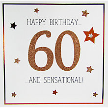 Buy Saffron Cards and Gifts 60 & Sensational Birthday Card Online at johnlewis.com
