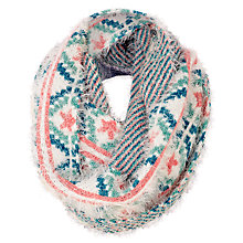 Buy Fat Face Children's Sophia Fluffy Snood, White/Pink Online at johnlewis.com