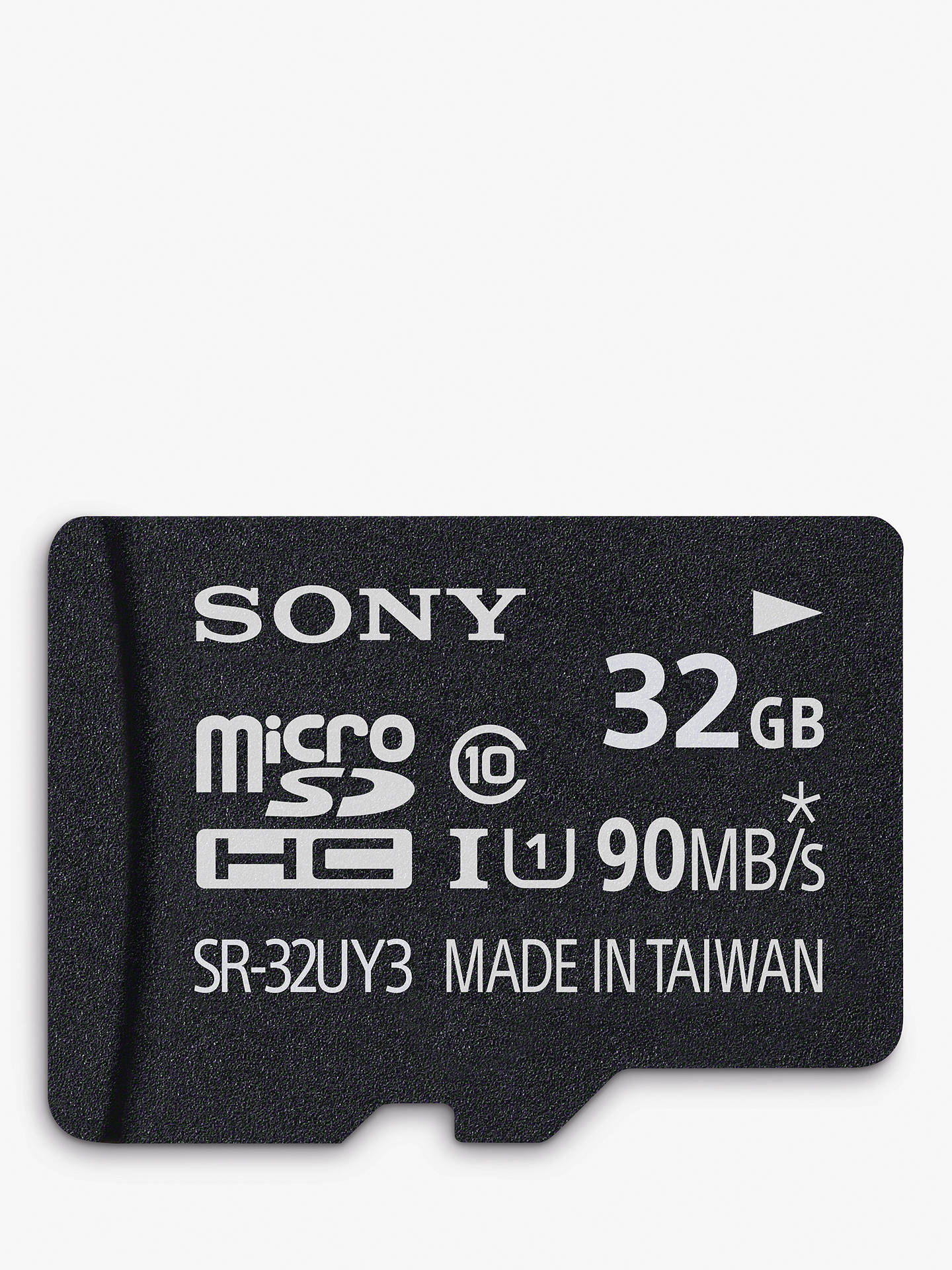 Buy Sony Performance UHS-I Class 10 U1 MicroSD Memory Card, 32GB, 90MB/s, with SD Adapter Online at johnlewis.com