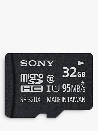 Sony Expert UHS-I Class 10 U3 MicroSD Memory Card, 32GB, 95MB/s, with SD Adapter