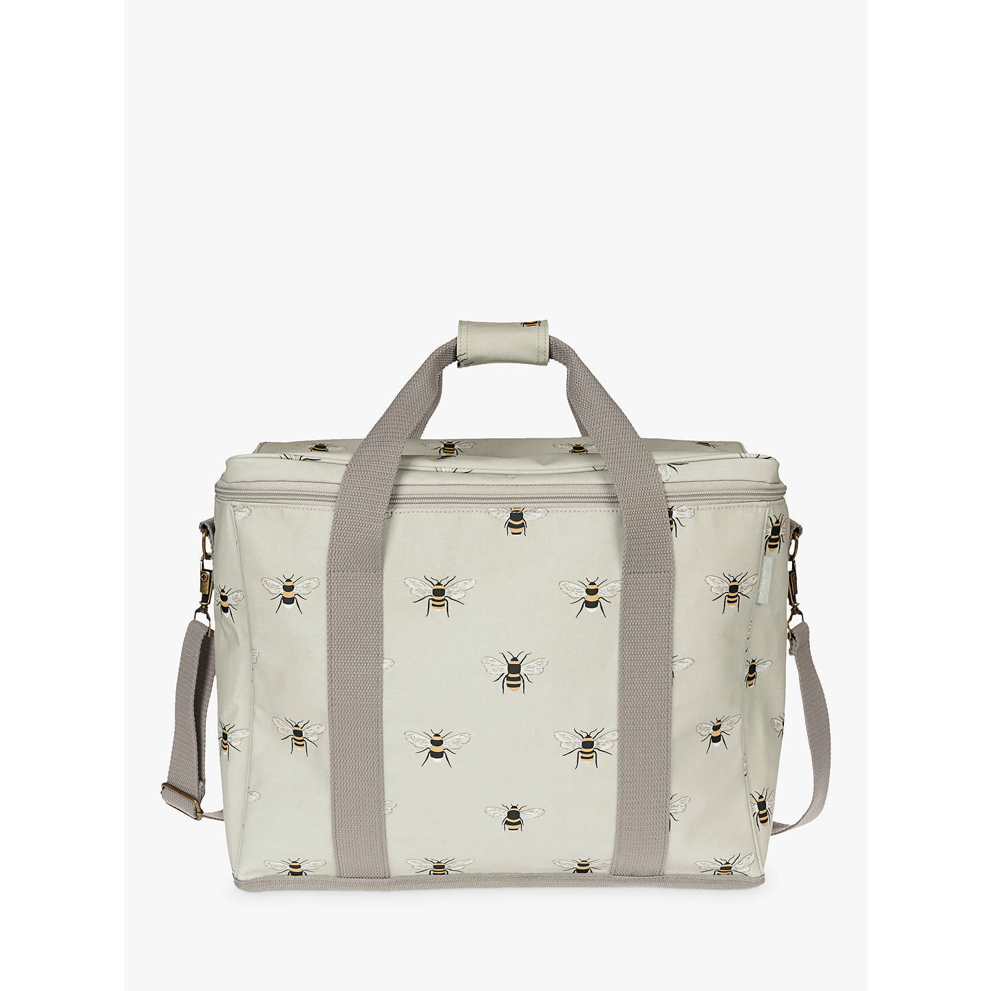 BuySophie Allport Bees Large Picnic Cooler Bag, Pale Green/Multi, 25L Online at johnlewis.com