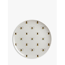 Buy Sophie Allport Bees Melamine Plate, Pale Green/Multi, Dia.25.4cm Online at johnlewis.com