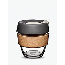 Buy KeepCup Cork Brew Reusable 8oz Glass Coffee Cup / Travel Mug, 227ml Online at johnlewis.com