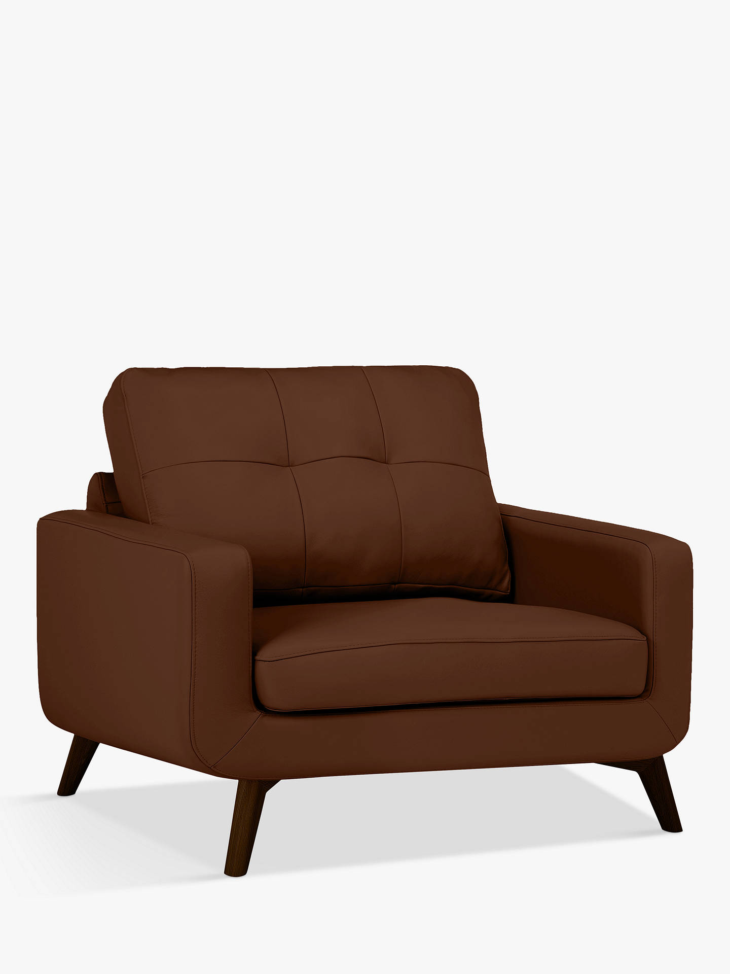 Buy John Lewis & Partners Barbican Leather Snuggler, Dark Leg, Contempo Castanga Online at johnlewis.com