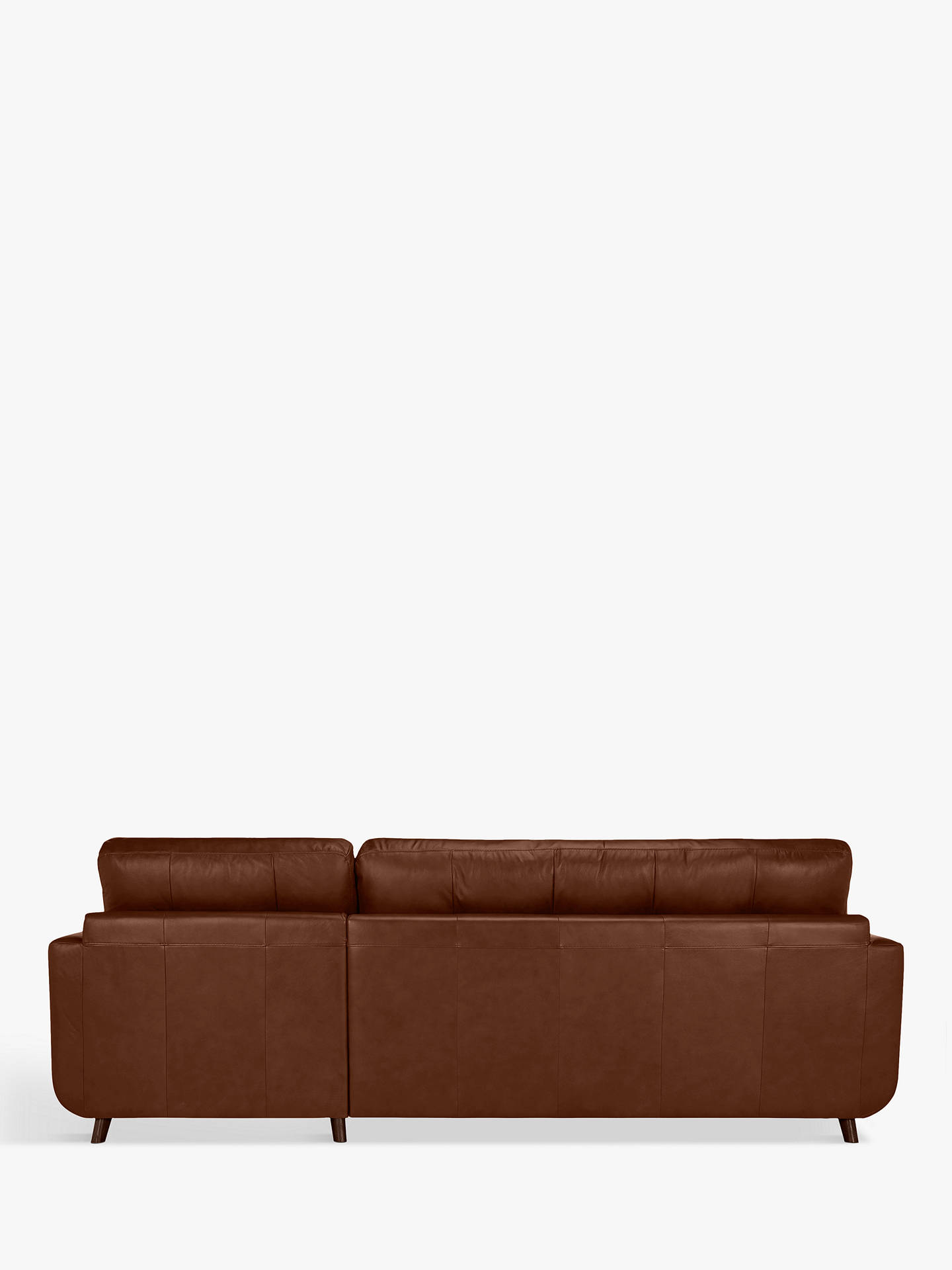John Lewis & Partners Barbican Leather Sofa Bed RHF Chaise ...