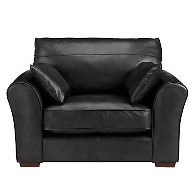 John Lewis Leon Leather Snuggler, Dark Leg