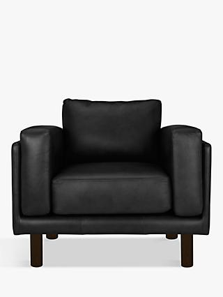 Design Project by John Lewis No.002 Leather Armchair, Dark Leg