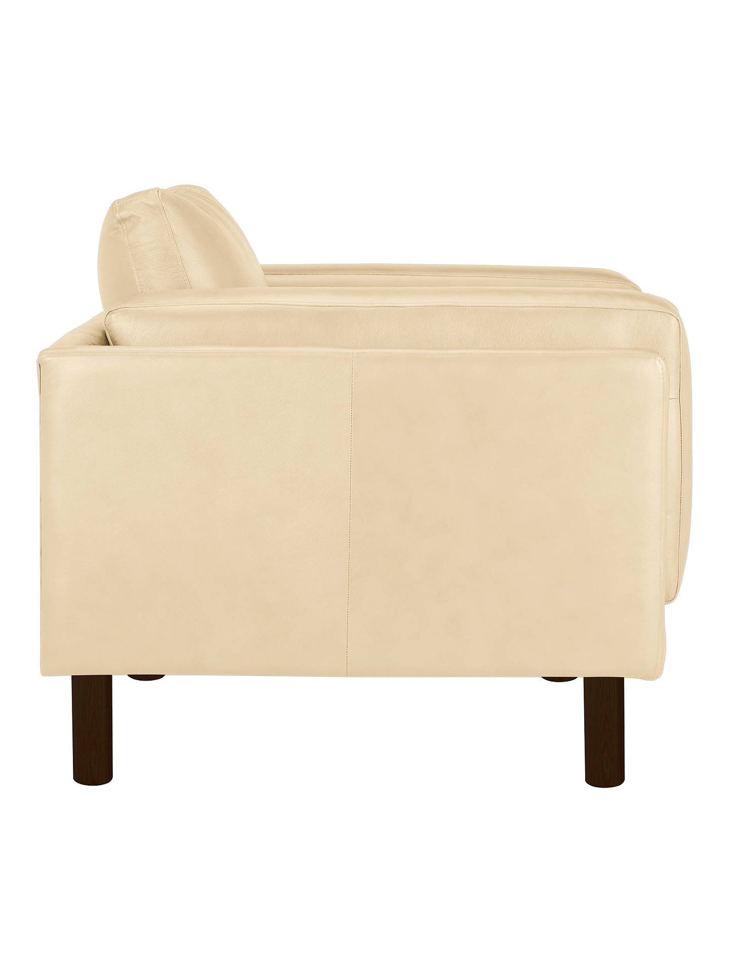 Buy Design Project by John Lewis No.002 Leather Armchair, Dark Leg, Nature Cream Online at johnlewis.com
