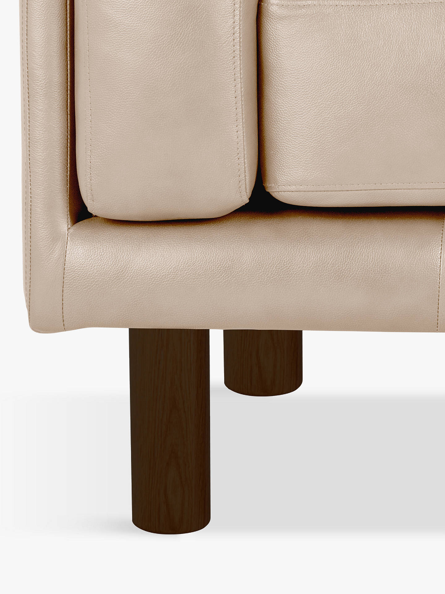 BuyDesign Project by John Lewis No.002 Leather Armchair, Dark Leg, Nature Putty Online at johnlewis.com