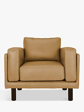 Design Project by John Lewis No.002 Leather Armchair, Sellvagio Parchment