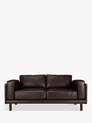 Design Project by John Lewis No.002 Large 3 Seater Leather Sofa, Dark Leg