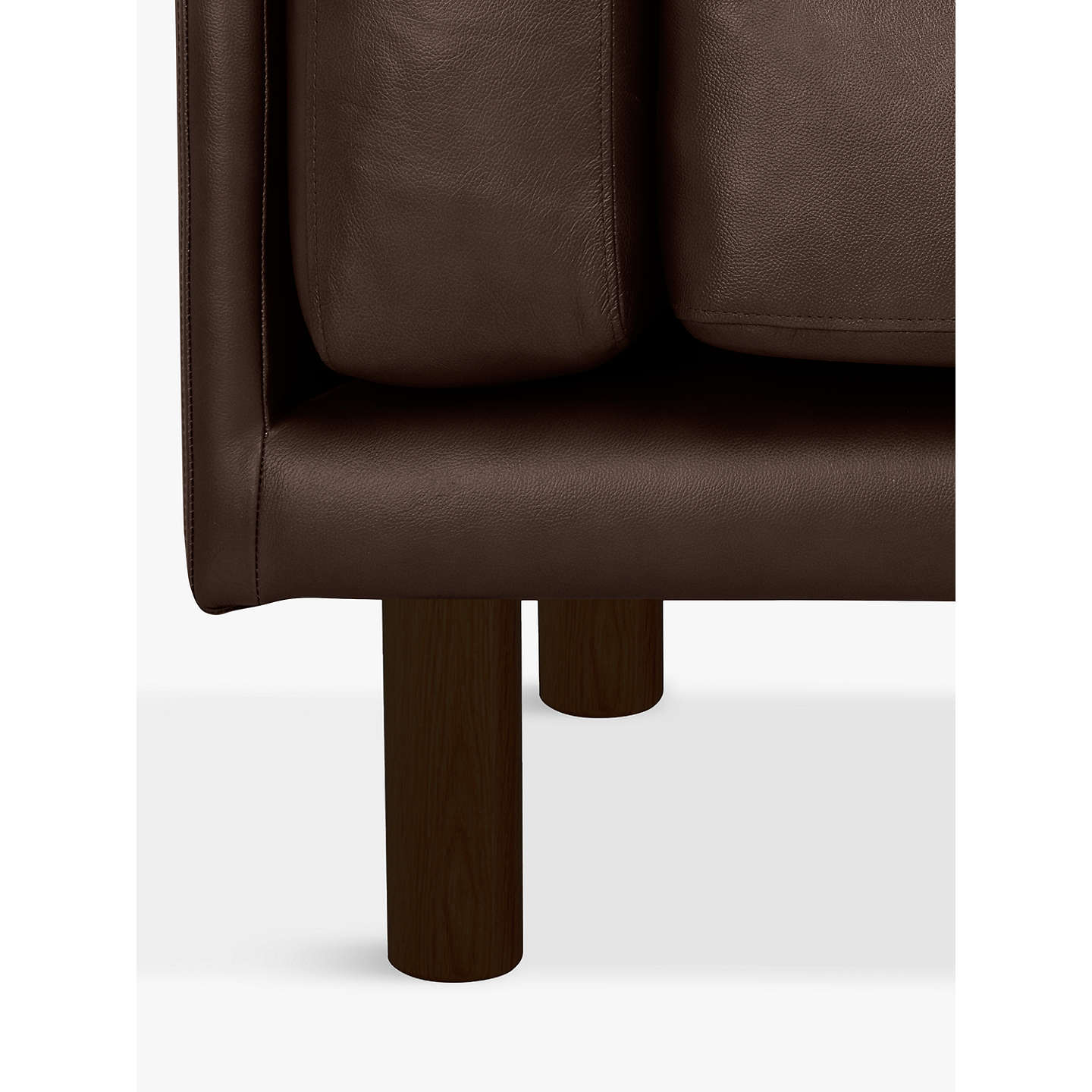 BuyDesign Project by John Lewis No.002 Large 3 Seater Leather Sofa, Dark Leg, Contempo Dark Chocolate Online at johnlewis.com