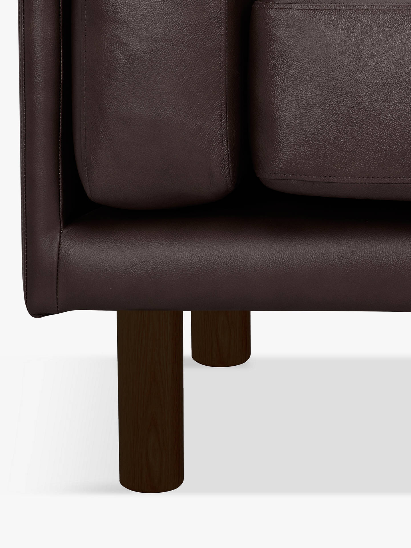 Buy Design Project by John Lewis No.002 Medium 2 Seater Leather Sofa, Dark Leg, Demetra Charcoal Online at johnlewis.com