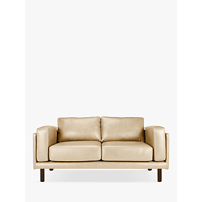 Design Project by John Lewis No.002 Medium 2 Seater Leather Sofa, Dark Leg