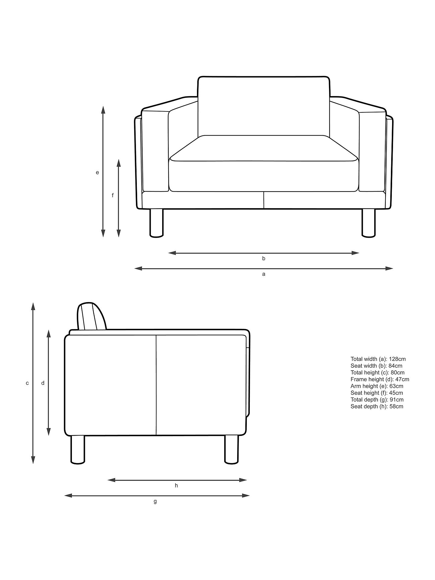 Buy Design Project by John Lewis No.002 Leather Snuggler, Dark Leg, Contempo Ivory Online at johnlewis.com