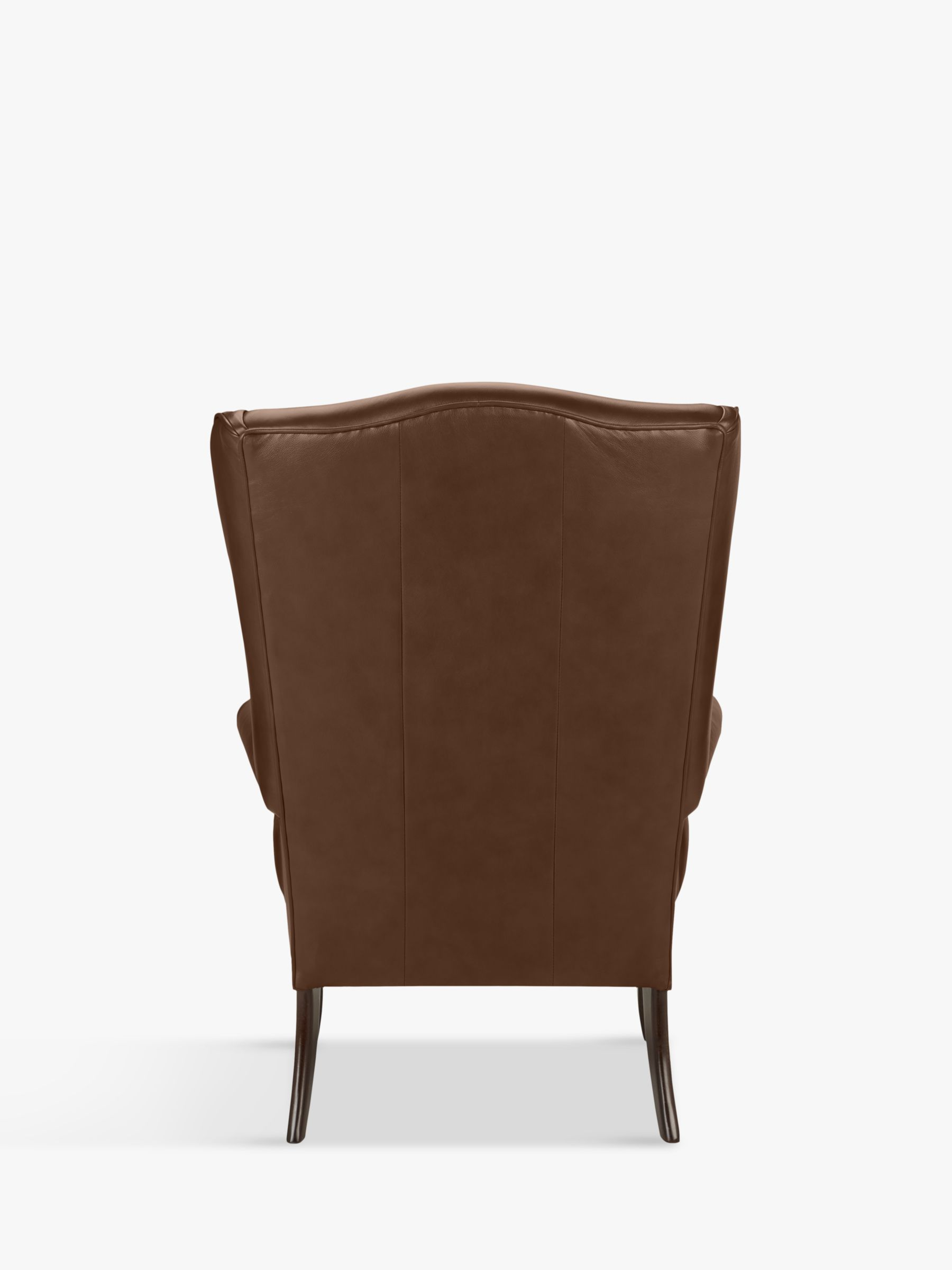 John Lewis Partners Shaftesbury Leather Wing Chair Dark