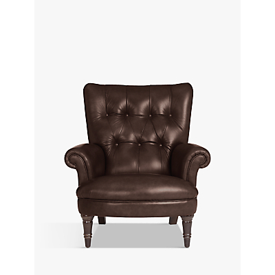 John Lewis Hambleton Leather Armchair, Dark Legs