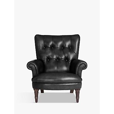 John Lewis & Partners Hambleton Leather Armchair, Dark Legs