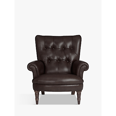 John Lewis & Partners Hambleton Leather Armchair, Dark Legs