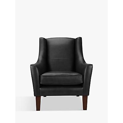 John Lewis & Partners Mario Leather Armchair, Dark Leg