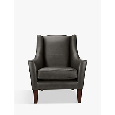 John Lewis Mario Leather Armchair, Dark Leg