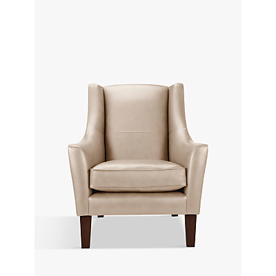 John Lewis Mario Leather Armchair, Dark Leg