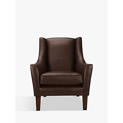 John Lewis & Partners Mario Leather Armchair, Dark Leg