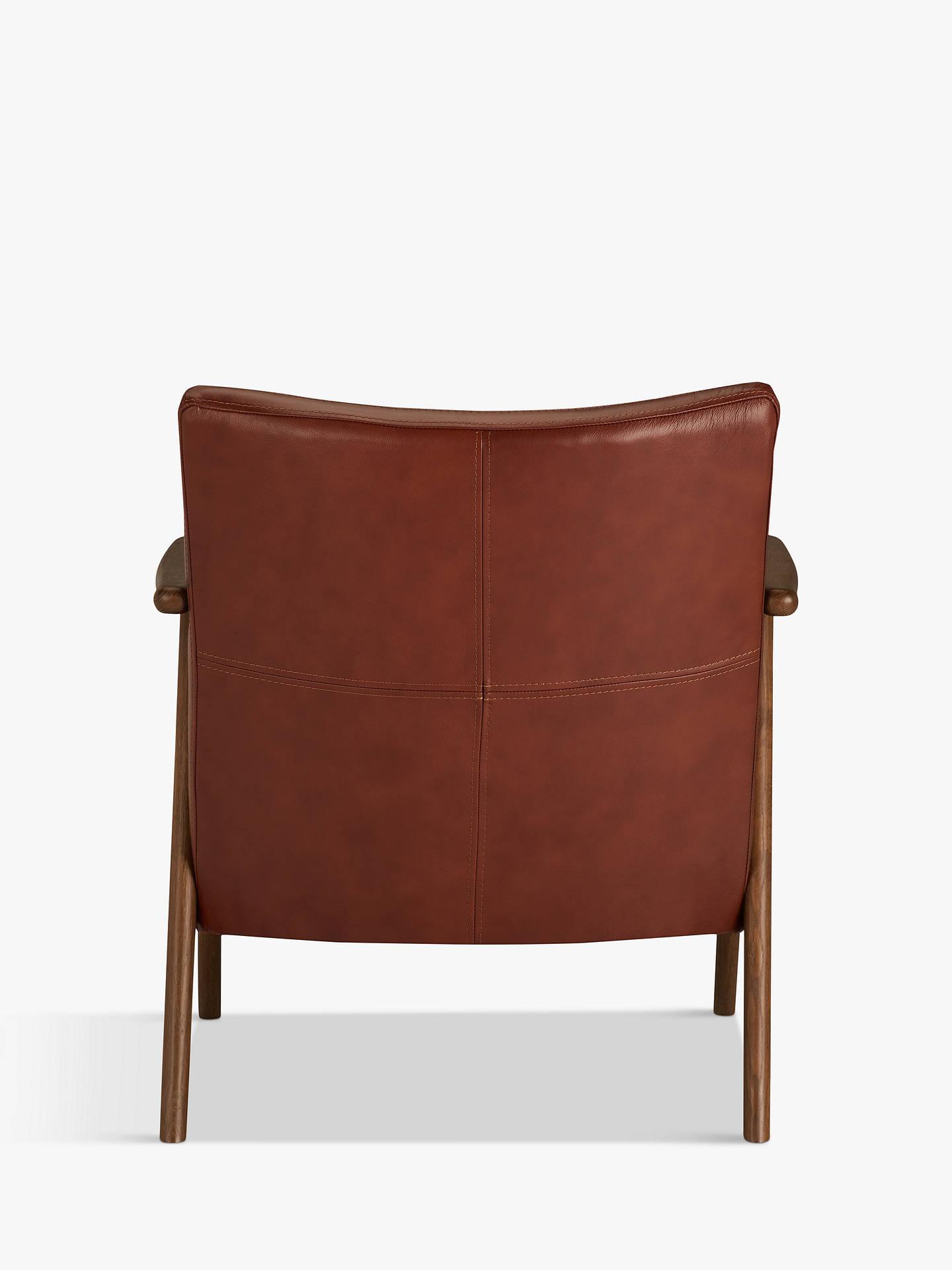 John Lewis & Partners Hendricks Leather Armchair, Dark ...