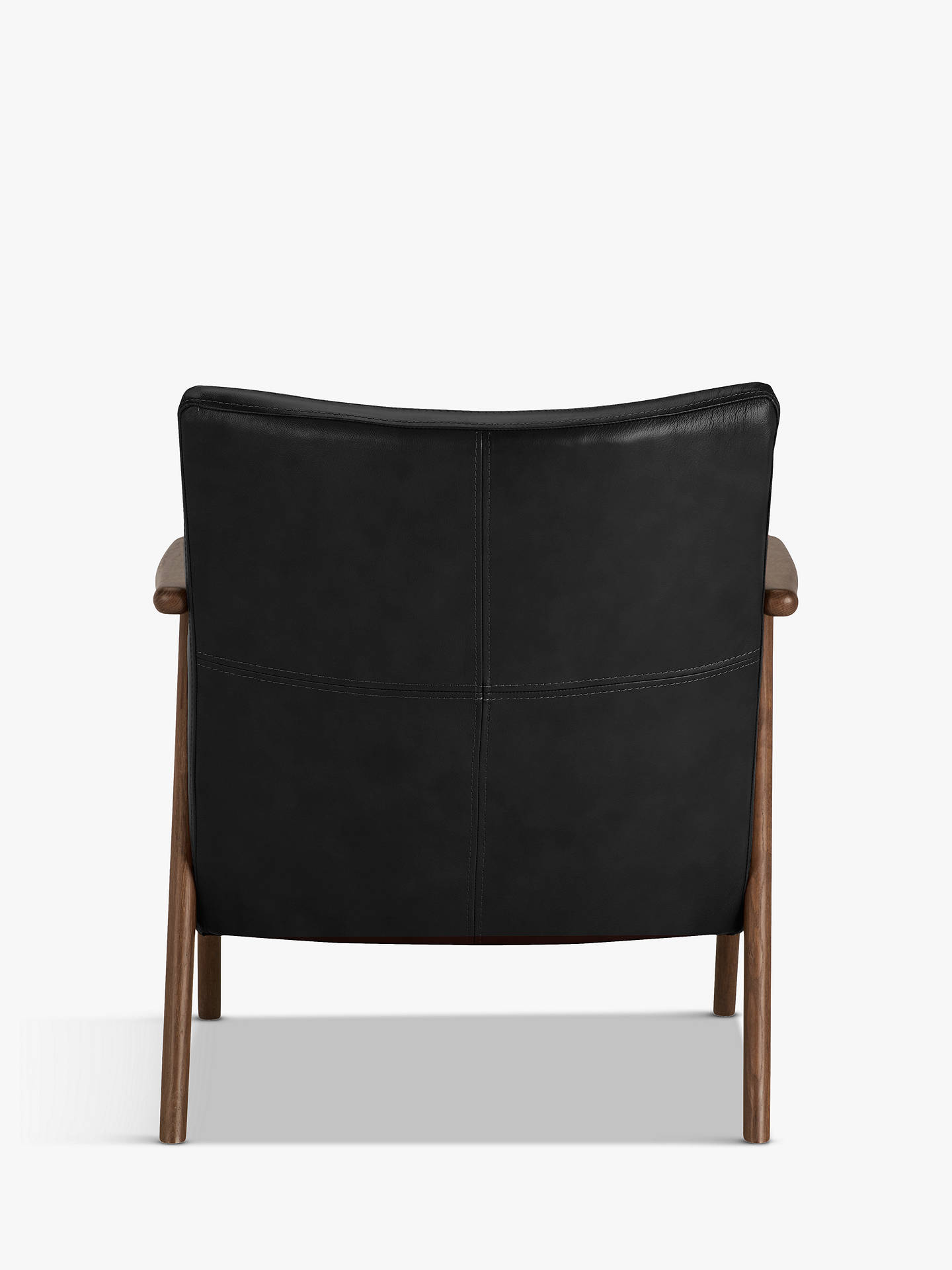 Buy John Lewis & Partners Hendricks Leather Armchair, Dark Wood Frame, Contempo Black Online at johnlewis.com
