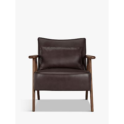John Lewis Hendricks Leather Armchair, Dark Leg