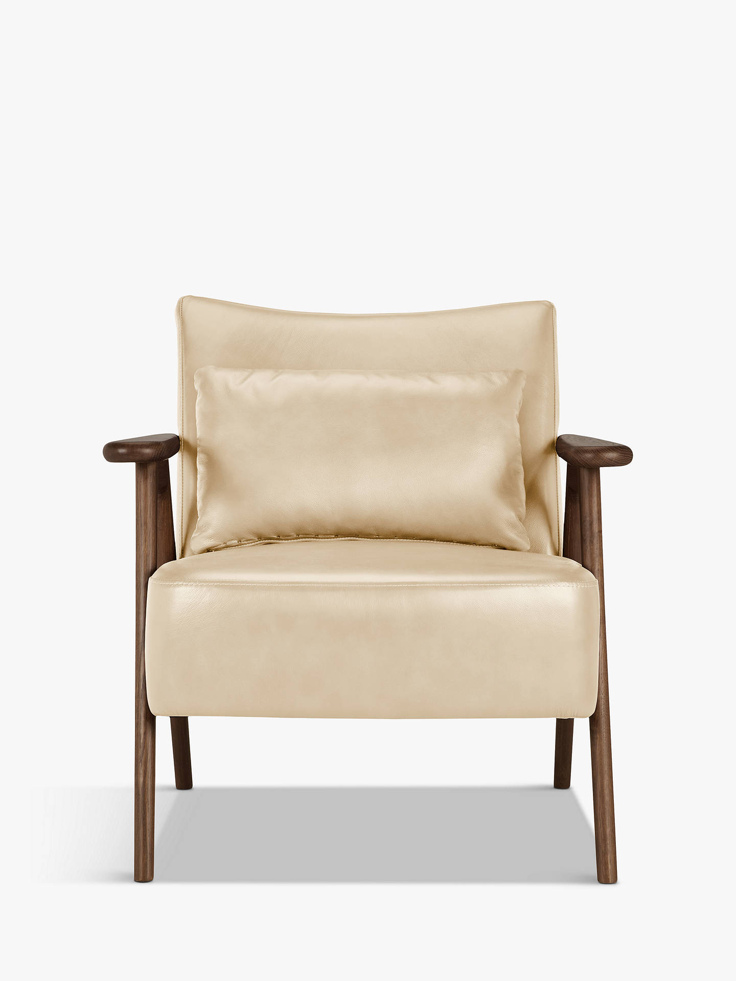 Buy John Lewis & Partners Hendricks Leather Armchair, Dark Wood Frame, Contempo Ivory Online at johnlewis.com
