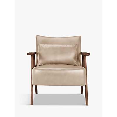 John Lewis Hendricks Leather Armchair, Dark Leg
