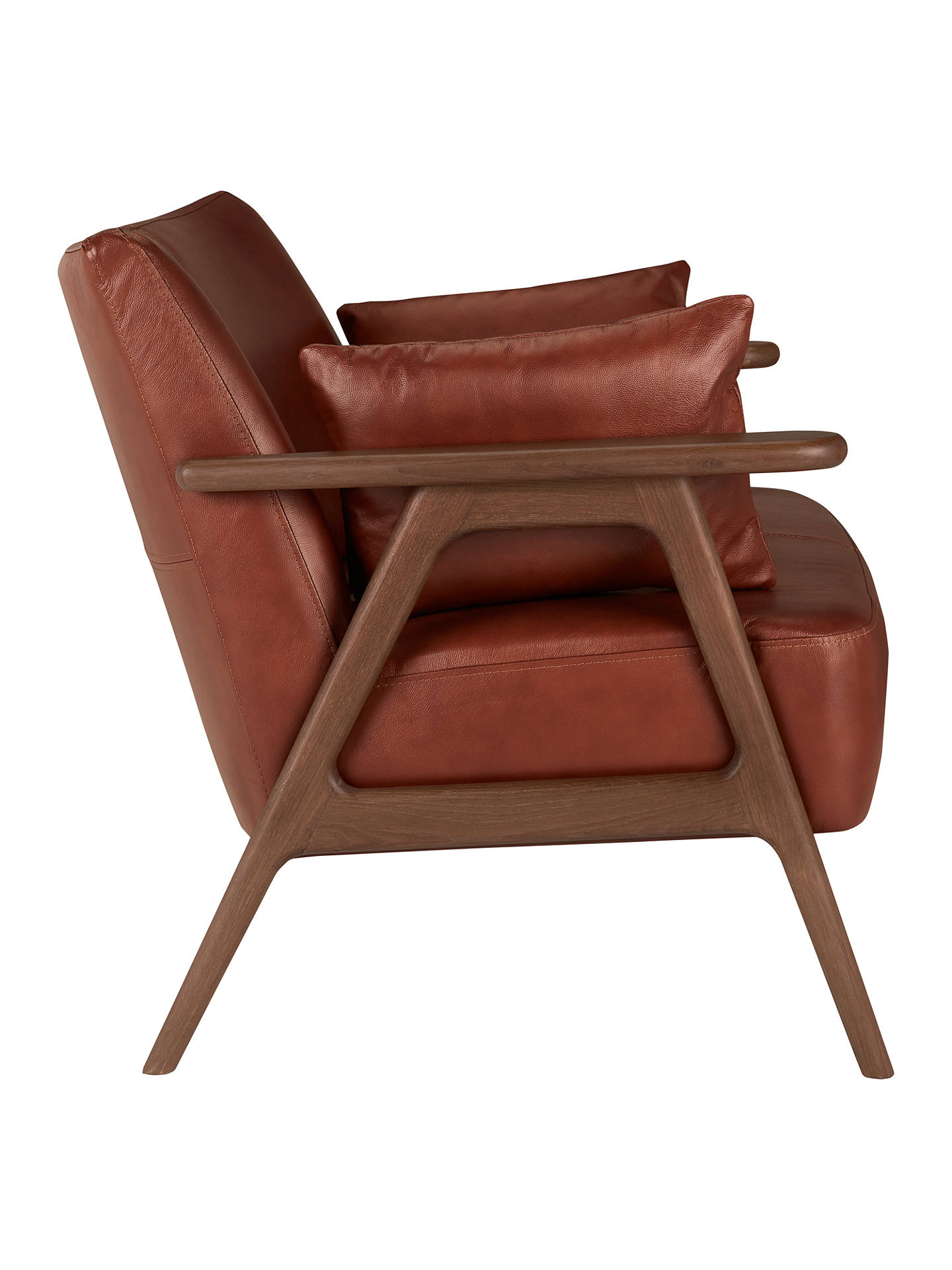 Cool John Lewis Partners Hendricks Leather Loveseat Dark Wood Dailytribune Chair Design For Home Dailytribuneorg