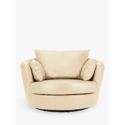 John Lewis & Partners Antonio Leather Swivel Chair
