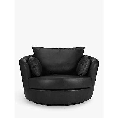 John Lewis Antonio Leather Swivel Chair