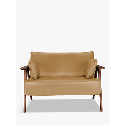 John Lewis Hendricks Leather Loveseat, Dark Leg