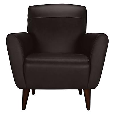 John Lewis Albie Leather Armchair, Dark Leg