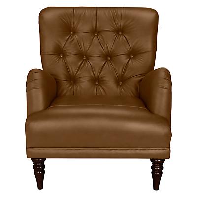 John Lewis Annabelle Leather Armchair, Dark Leg