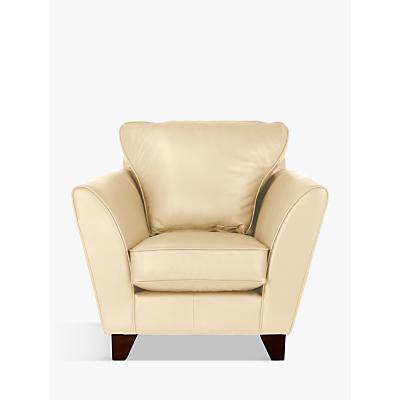 John Lewis & Partners Oslo Leather Armchair, Dark Leg