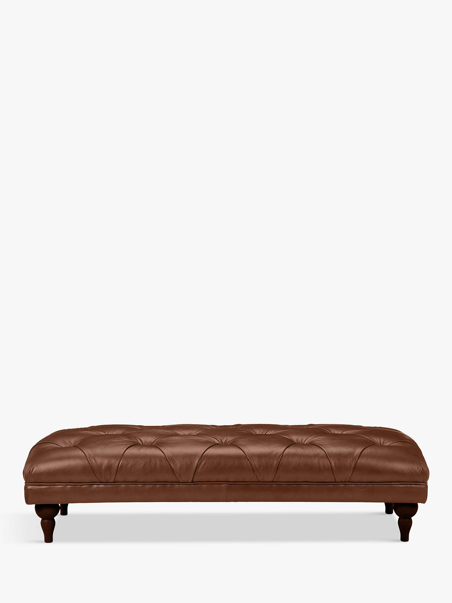 Buy John Lewis & Partners Delia Grand Classic Buttoned Footstool, Dark Leg, Contempo Castanga Online at johnlewis.com