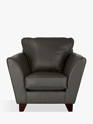 John Lewis & Partners Oslo Leather Armchair, Dark Leg