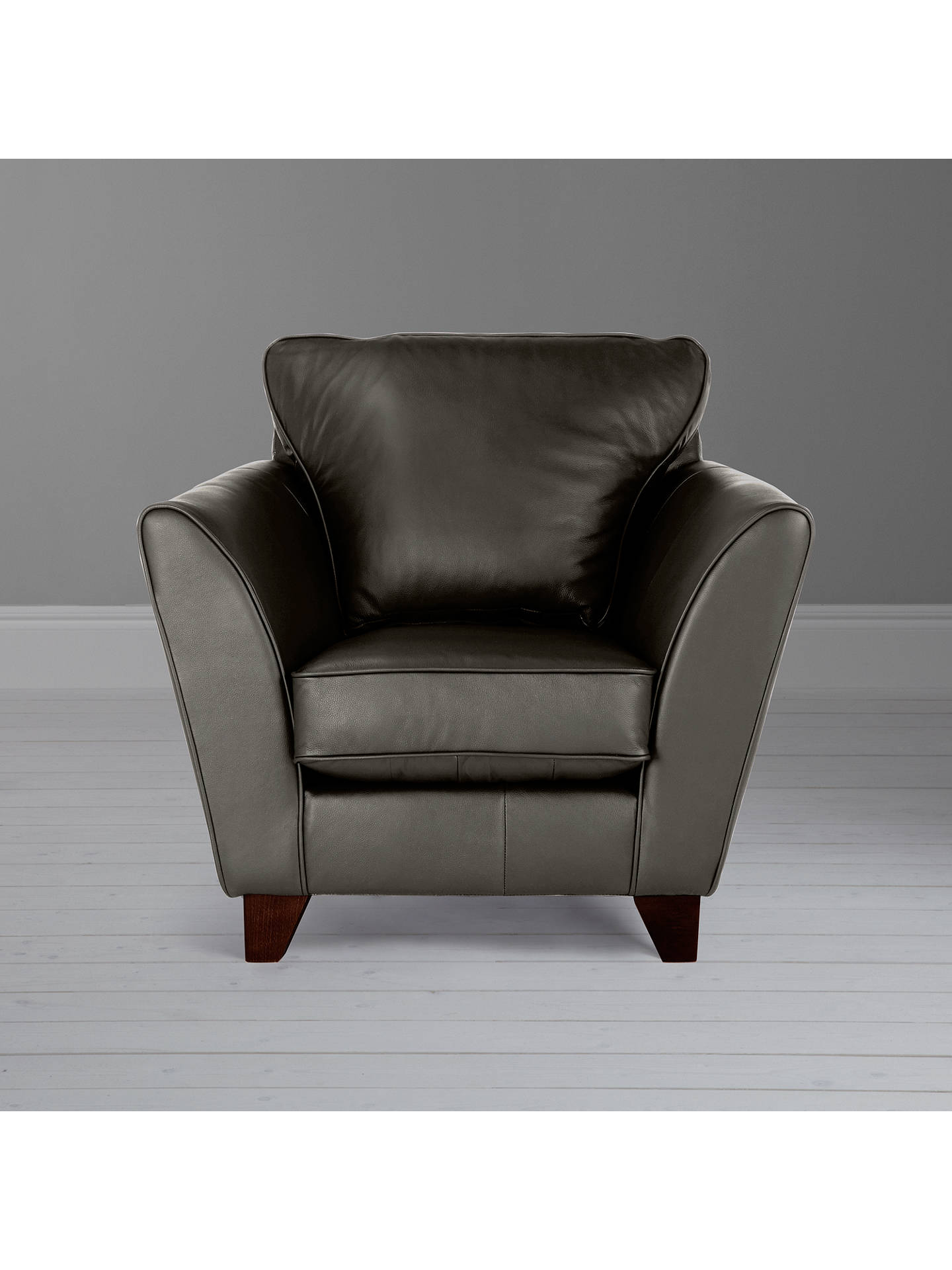 Buy John Lewis & Partners Oslo Leather Armchair, Dark Leg, Winchester Anthracite Online at johnlewis.com
