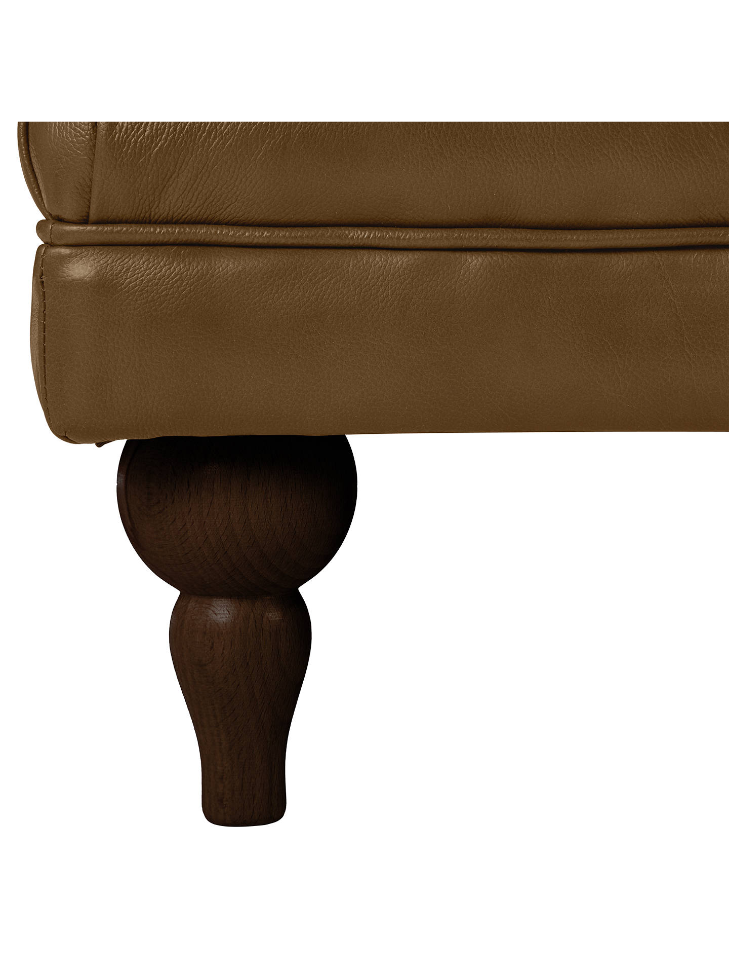 BuyJohn Lewis & Partners Delia Grand Classic Buttoned Footstool, Dark Leg, Demetra Light Tan Online at johnlewis.com