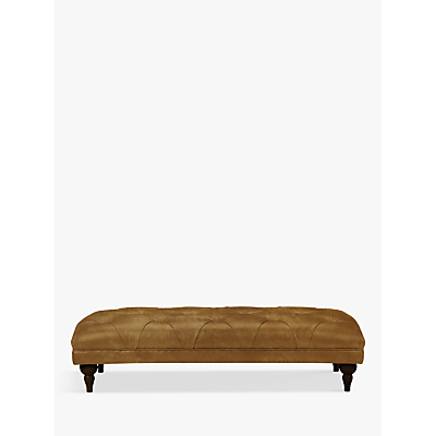 John Lewis Delia Grand Classic Buttoned Footstool, Dark Leg