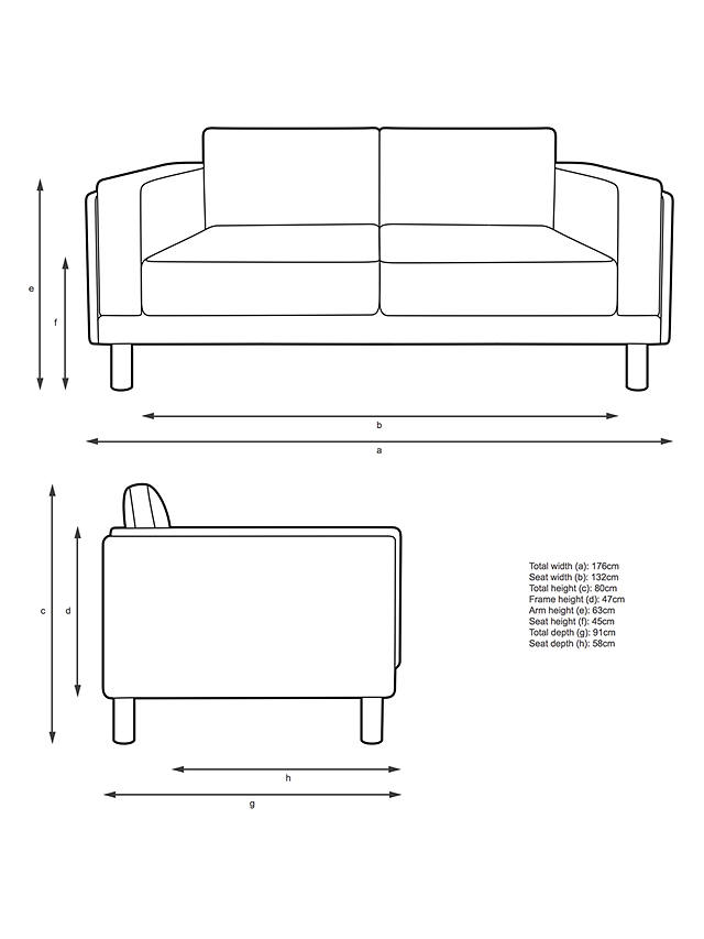 Design Project by John Lewis No.002 Medium 2 Seater Sofa