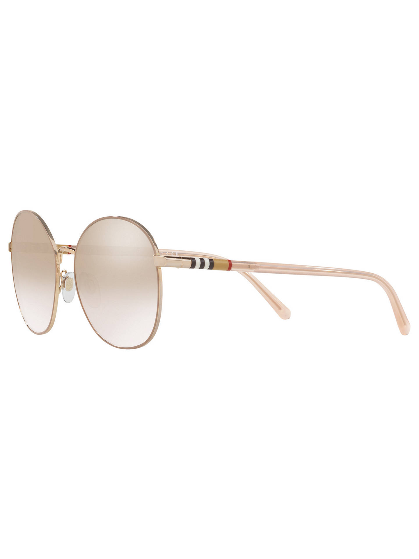 BuyBurberry BE3094 Women's Round Sunglasses, Light Brown Online at johnlewis.com