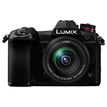 "Buy Panasonic Lumix DC-G9 Compact System Camera with Lumix 12-60mm f3.5-5.6 Power O.I.S. Lens, 4K, 20.3MP, 4x Digital Zoom, Wi-Fi, OLED Viewfinder, 3"" Vari-Angle Touch Screen, Black Online at johnlewis.com"