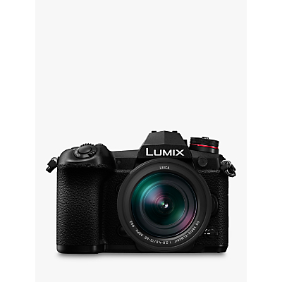 Panasonic Lumix DC-G9 Compact System Camera with Leica 12-60mm f2.8-4.0 Power O.I.S. Lens, 4K, 20.3MP, 4x Digital Zoom, Wi-Fi, OLED Viewfinder, 3 Vari-Angle Touch Screen, Black