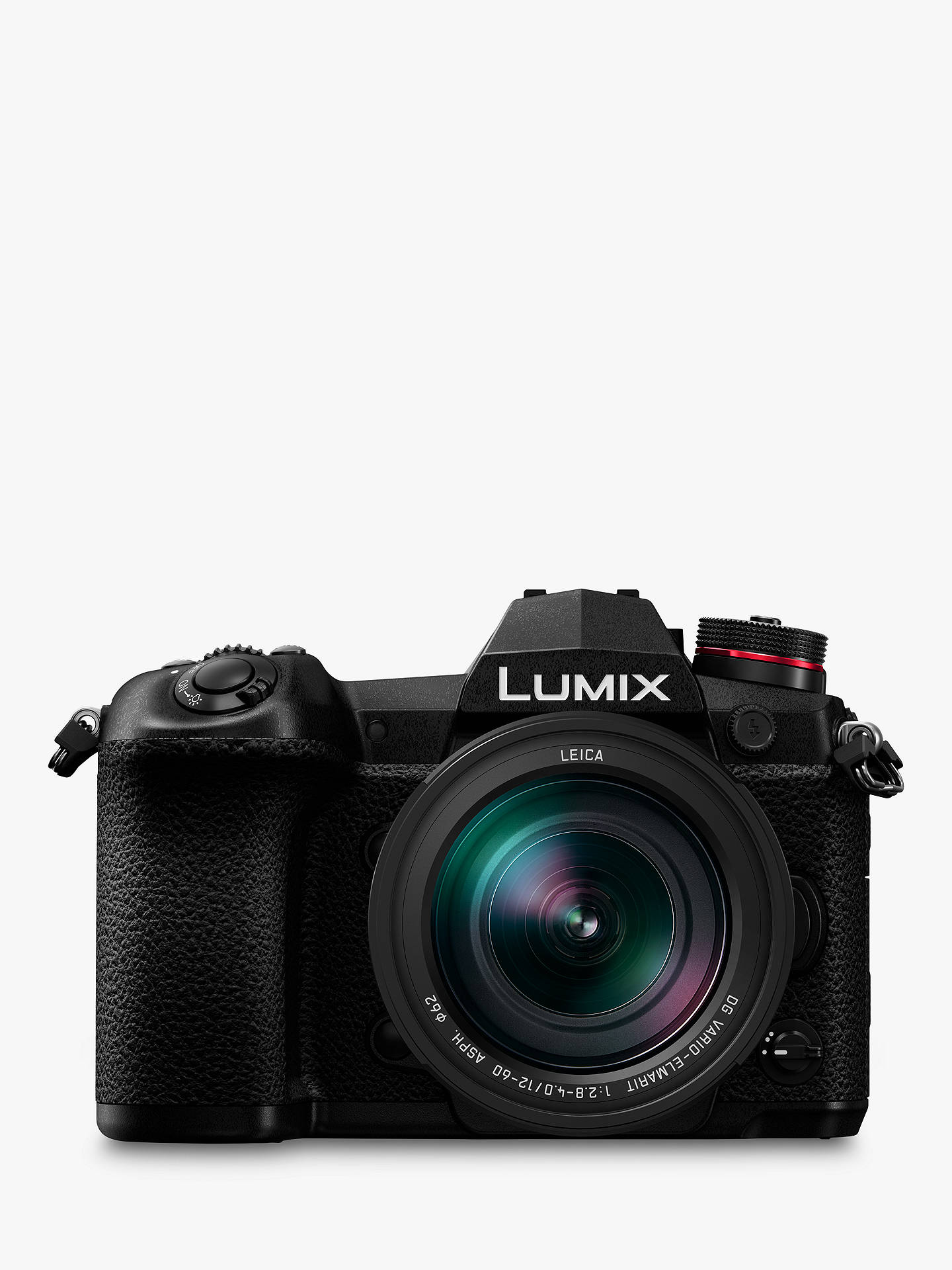 "Buy Panasonic Lumix DC-G9 Compact System Camera with Leica 12-60mm f2.8-4.0 Power O.I.S. Lens, 4K, 20.3MP, 4x Digital Zoom, Wi-Fi, OLED Viewfinder, 3"" Vari-Angle Touch Screen, Black Online at johnlewis.com"